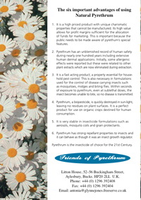 flyer for Friends of Pyrthrum