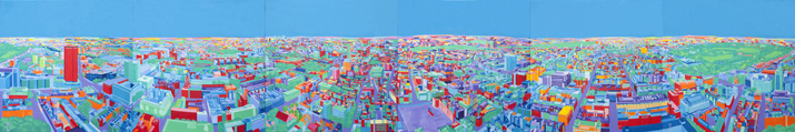 picture of London Panorama over 6 canvases