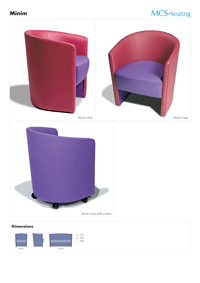 info sheet on Mininim range for MCS-Seating