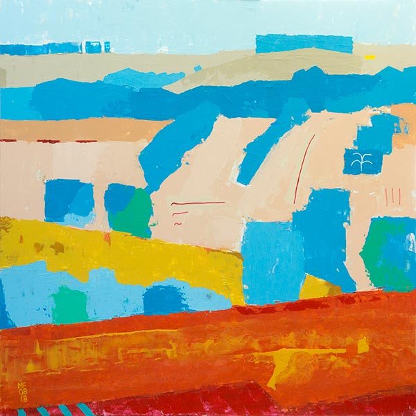 image of perelandra 3, an abstract landscape, simplifying composition and shapes.