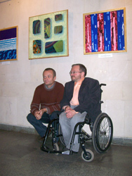 photo of Shepenkow and Fryer at opening of exhbition