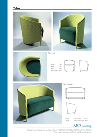 data sheet for Tuba range - MCS-Seating